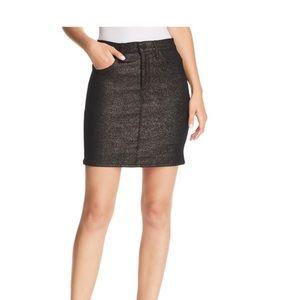 Nwts Hudson jeans black denim skirt gold g…